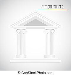 starożytny, wektor, kolumny