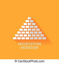 starobylý, egypťan, architektura, ikona