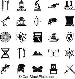 starobylý, ikona, dát, jednoduchý, móda