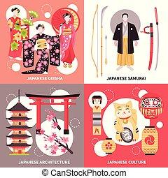 starobylý, japonsko, byt, pojem