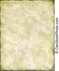 starobylý, pergamen, noviny