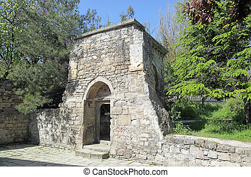starobylý, sarkis, dále, portál, svatý, církev