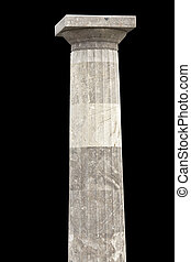 starobylý, sloupec, dórský, řád, řečtina, chrám