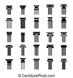 starobylý, sloupec, ikona, dát, jednoduchý, móda