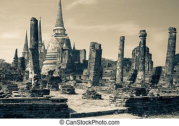 starobylý troska, palác, ayutthay