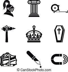starobylý, válka, ikona, dát, jednoduchý, móda