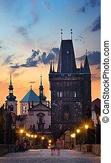 Staromestska Tower in the morning