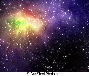 starry background of deep outer space