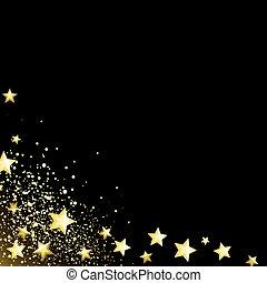 Starry black background
