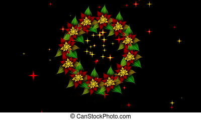 Starry Christmas wreath - Christmas decoration, wreath with...