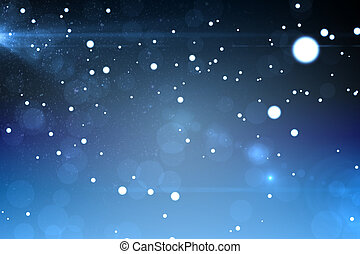 Starry dark blue night sky