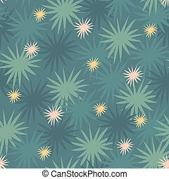 Starry floral abstract flash flare seamless pattern