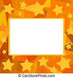 Starry frame - Bright photo frame with stars