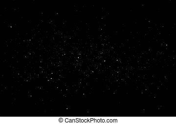 starry, galaxie, sky.