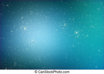 Starry glitter background with stars on blue color