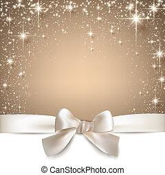 starry, kerstmis, beige, achtergrond.