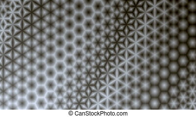 Starry Monochrome Pattern Background - Repeating black and...
