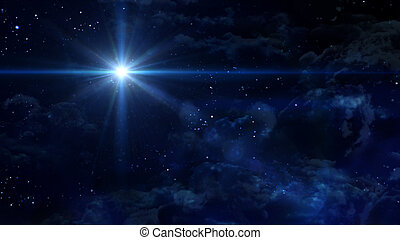 starry night blue star cross planet - A Bethlehem...