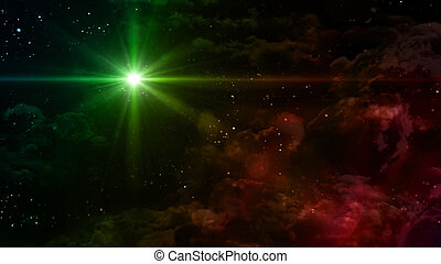 starry night green color star cross