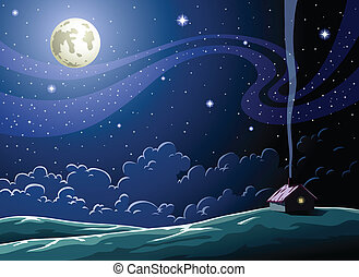 Night - Starry Night in the village