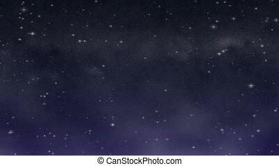 Starry Night Loop HD widescreen - A deep, dark blue and...