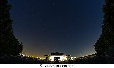 starry night on the desert in UAE timelapse