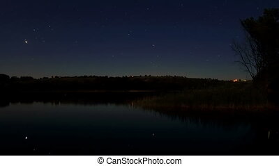 Starry night on the river