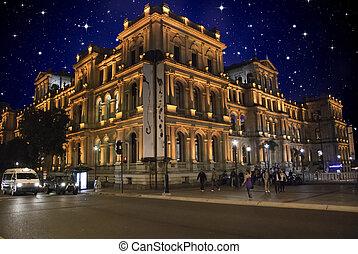 Starry Night over Brisbane Central Square, Australia