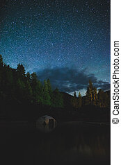 Starry Night Over Hot Springs