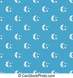 Starry night pattern seamless blue