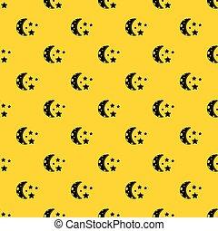 Starry night pattern vector