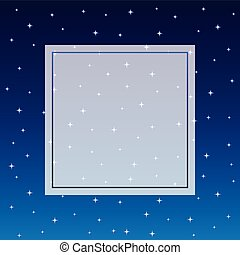 Starry Night Sky Banner Background