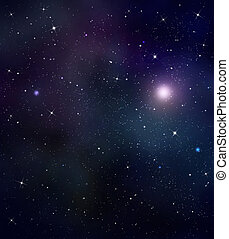 starry night sky  deep outer space -  starry background