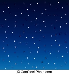 Starry Night Sky Square Background