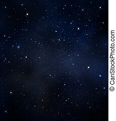 starry night sky  -  starry background