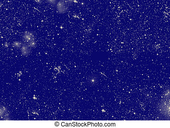 starry night - midnight blue background with stars and...