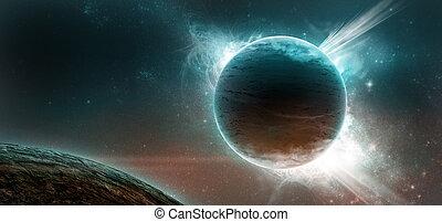 starry, planeten, hintergrund
