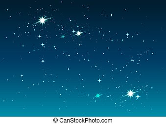 starry, ruimte, nacht, sterretjes, sky.