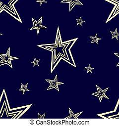 Starry seamless pattern