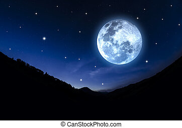 Starry Sky and moon. Elements of this image furnished by ...