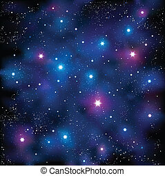 Starry Sky - Vector illustration representing starry stars...