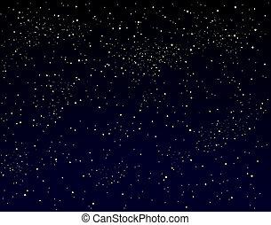 Starry sky - Illustration of a starry sky