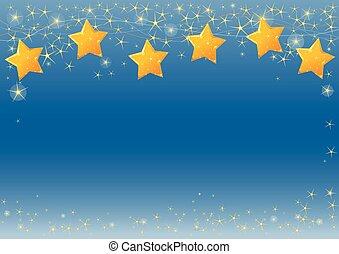 Starry Sky - Illustration of Christmas starry background