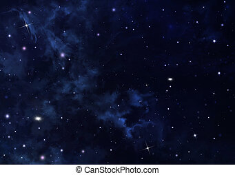starry sky in the open space