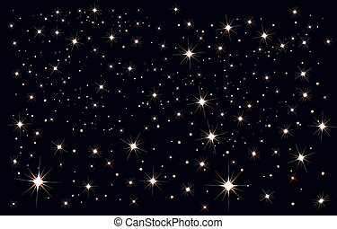 Starry sky. Stars in the night sky. Illustration in vector...