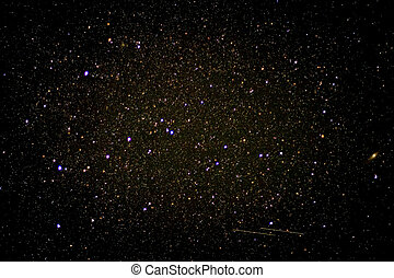 Starry sky - The dark clouds of the Milky Way also known as...