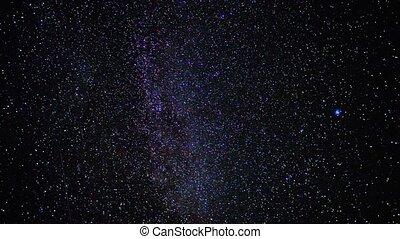 starry sky, time-lapse