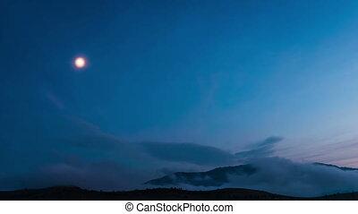 Starry sky time lapse