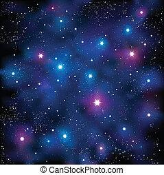 Starry Sky - Vector illustration representing starry stars...