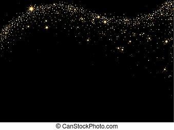 Starry Wave on Black Background